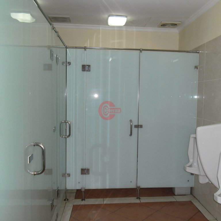 Glass Toilet Cubicle