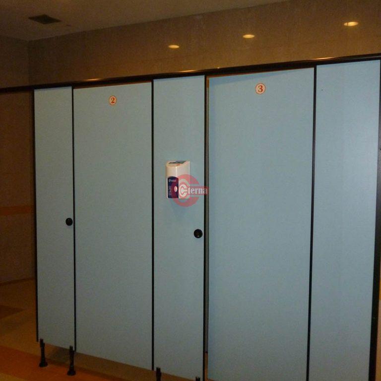 Wooden toilet cubicle bekasi