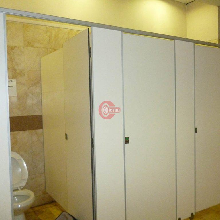Wooden toilet cubicle papua