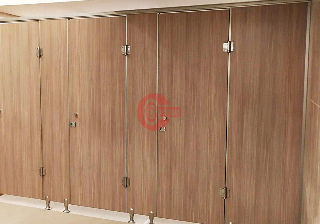 cubicle toilet wooden